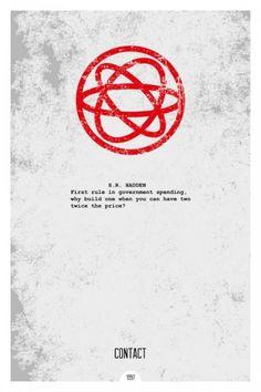Contact minimal poster