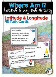 Latitude and Longitude Activities ($)