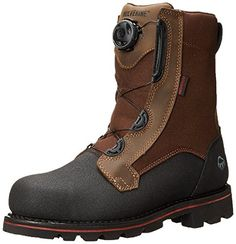 """Wolverine Men's Drillbit Oil Rigger Waterproof Boa Steel-Toe EH 8"""" Work Boot Real Brown 10.5 / M and Work Sock Bundle *** You can get additional details at the image link."""