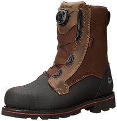 Wolverine Men's Drillbit Oil Rigger Waterproof Boa Steel-Toe EH Work Boot Real Brown / M and Work Sock Bundle (*Partner Link) Mens Shoes Boots, Mens Boots Fashion, Men Fashion, Leather Men, Leather Boots, Riding Boots, Combat Boots, Work Socks, Steel Toe Boots