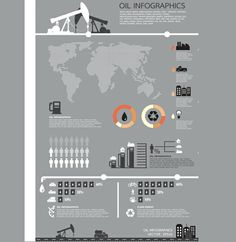 XOO Plate :: Oil Theme Business Infographics Vector Chart - Oil related business Infographics chart in vector eps format.