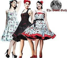 Hell Bunny Swing Dresses. The DarkSide Collection