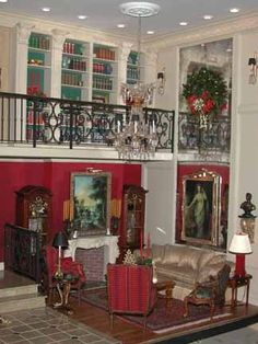 HOME FOR THE HOLIDAYS. Dollhouse Roombox Christmas //by Whitledge-Burgess, LLC // Interior Design in Miniature