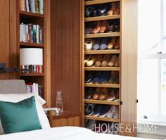 Custom Pull-Out Shelves Store Shoes In A Small Space | House & Home