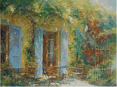 Professione Donna: Schema a punto croce: Johan Messely : Il giardino ...