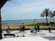 Playa de La Malagueta en Málaga, Andalucía