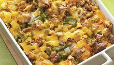 Easy Breakfast Strata Recipe -We start this breakfast casserole the night before so it's ready for the oven the next day. That way, we don't have to deal with the prep and dirty dishes first thing in the morning! Breakfast Strata, Breakfast Dishes, Breakfast Time, Breakfast Casserole, Breakfast Recipes, Breakfast Ideas, Brunch Ideas, Sausage Breakfast, Dinner Ideas
