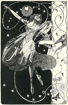 "Willy Pogany illustration of the poem ""To a Danseuse"" by Will Hill"