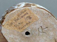 Tommy Kakinuma, Vancouver Canada , Pottery Owl - TK mark TT mark HT mark