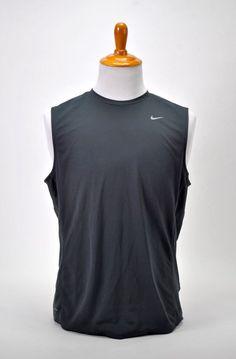 c19cd23884cb8 Nike Running Dri-Fit Sleeveless Shirt Gray Size Large Top Tee Shirt Athletic