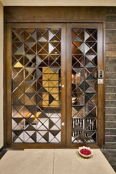 Best Door - Window Design in India - GharPedia Door And Window Design, Wooden Front Door Design, Door Gate Design, House Gate Design, Window Design, Room Door Design, Entrance Gates Design, Pooja Room Door Design, Front Door Design