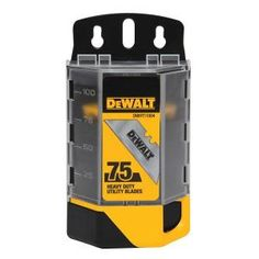 DEWALT Heavy-Duty Blades for Utility Knives (75-Pack) DWHT11004 at The Home Depot - Mobile