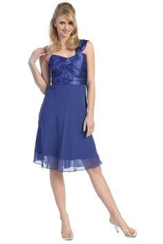 Blue Knee-length Chiffon Sleeveless Homecoming Dress For Sweet 16 HD14BD