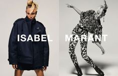 Natasha Poly showed off her best moves in the fall-winter 2015 campaign from Isabel Marant.
