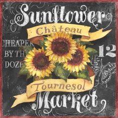 Chalkboard Art - Geoff Allen - Sunflower Market