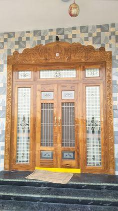 Home Door Design, Pooja Room Door Design, House Ceiling Design, Door Design Interior, Single Door Design, Wooden Front Door Design, Double Door Design, House Outer Design, House Front Design