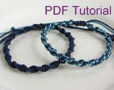 PDF Tutorial Alternating Square Knot Macrame Bracelet Pattern