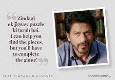 8 Heartwarming Lines From 'Dear Zindagi' To Help You Love Yourself & Your Zindagi Movie Quotes, True Quotes, Book Quotes, Qoutes, Shyari Quotes, Deep Quotes, Hindi Quotes, Islamic Quotes, Dear Zindagi Quotes