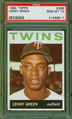 1964 Topps Baseball Lenny Green #386 PSA 10 TWINS GEM MINT POP 1 #PSA10