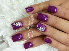Purple Nail Art, Purple Nail Designs, Nail Art Designs, Opi Gel Nails, Nail Manicure, Pink Nails, Cute Nails, Pretty Nails, Lavender Nails