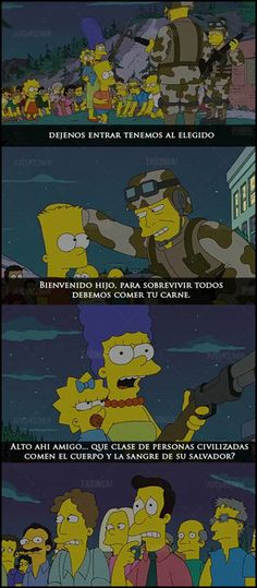 .#Bart #zombies #Religion(? Simpsons Meme, Simpsons Quotes, The Simpsons, Simpson Tumblr, Los Simsons, Celebrity Caricatures, Homer Simpson, Futurama, Satire