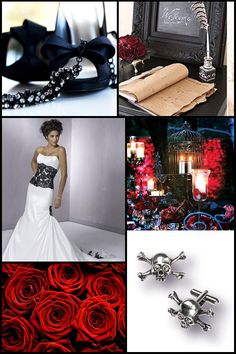The Pinkbook - Decor Inspiration: Goth Wedding Details  Keywords: #weddings #jevelweddingplanning Follow Us: www.jevelweddingplanning.com  www.facebook.com/jevelweddingplanning/