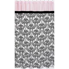 @Overstock - This designer collection unique pattern adds a touch of style and a splash of color to the bathroom. The easy bathroom makeover can easily pair with coordinating Sweet JoJo Designs room accessories to complete a favorite theme.  http://www.overstock.com/Bedding-Bath/Pink-and-Black-Sophia-Shower-Curtain/7601992/product.html?CID=214117 $39.99