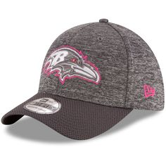 Baltimore Ravens New Era 2016 Breast Cancer Awareness Sideline 39THIRTY Flex Hat - Heather Gray - $22.39
