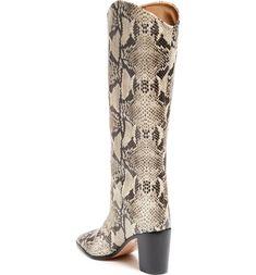 Schutz Analeah Pointed Toe Knee High Boot (Women) | Nordstrom Jojo Fletcher, Brazil Women, Plantar Fasciitis, Knee High Boots, Calves, Stage, Nordstrom, Heels, Leather