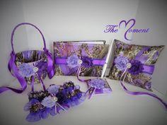 Purple Camo Wedding Set Purple Camo wedding by TheMomentWedding