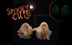 DIY: Spooky cute - Geisterdeko zu Halloween Geist aus Mullbinden/Käsetuch, leuchten
