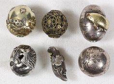 Japanese Ojime Beads, 19c Lot 3001, sold eBay 6/19/16 $3500.00