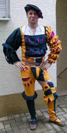 Tri-color landsknecht wams