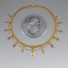 GOLD ARCHAEOLOGICAL REVIVAL NECKLACE, CARL BACHER, 1870s | Lot | Sotheby's