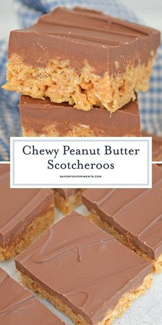 Scotcheroo Recipe Classic Scotcheroos made with Rice Krispies, peanut butter, chocolate and butterscotch chips. The ultimate no-bake bar dessert! Best Dessert Recipes, Candy Recipes, Easy Desserts, Delicious Desserts, Popcorn Recipes, Rice Krispy Treats Recipe, Rice Krispie Treats, Cereal Treats, Peanut Butter Rice Krispies