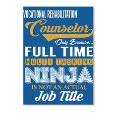 Vocational Rehabilitation Counselor Dk Royal T-Shirt Front