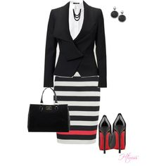 another day at work.... by htimss on Polyvore featuring Strenesse, Vivienne Westwood, Diane Von Furstenberg, Christian Louboutin, Lulu Guinness, Adami & Martucci and Free People