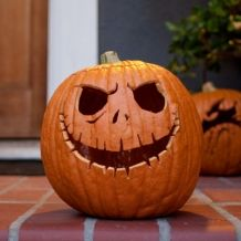 Jack Skellington Pumpkin Carving Template and other disney stencils