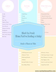 Streamline Your Labor and Delivery Bag + Free Printable List