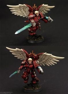 Blood Angels, Captain, Conversion, Jca, Jump Pack, Plasma Pistol, Power Sword, Winged