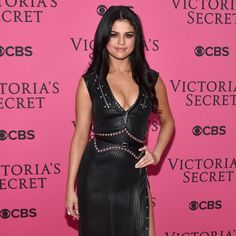 """Selena Gomez (@selenagomez) wearing #LouisVuitton by @nicolasghesquiere at the Victoria Secret fashion show in New York City #VSFashionShow"""