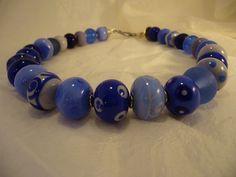 86B Collier Flonche bleu | Flickr: partage de photos!