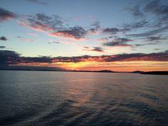 Sun setting behind #Corfu