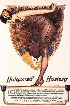 antique women's hosiery | 1920s Usa Hosiery Womens Stockings Drawing - 1920s Usa Hosiery Womens ...