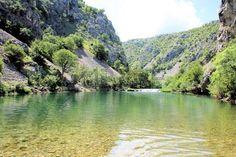 view on Zrmanja river, Croatia