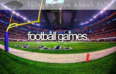 I would love to go to a college national championship game and attend at least one pro football game. =)