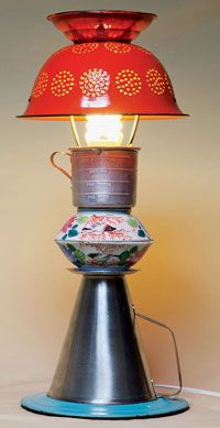 Repurpose: Kitchenware Lamp - July/August 2012 - Sierra Magazine - Sierra Club