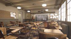 ArtStation - Archviz interiors# Classroom 4K, Republic Of Renderring