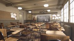 ArtStation - Archviz interiors# Classroom 4K, Republic Of Renderring