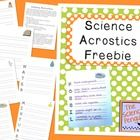 Science Acrostics Freebie
